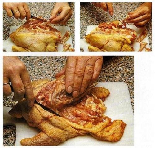 disossare,pollo,coltellino,pelle,scheletro,ripieno