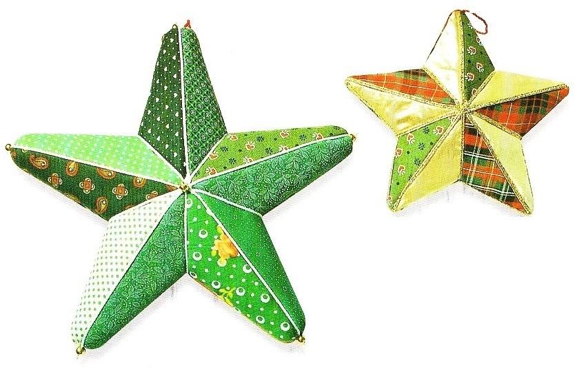 Decorazioni per l 39 albero di natale con il patchwork su - Decorazioni in polistirolo ...