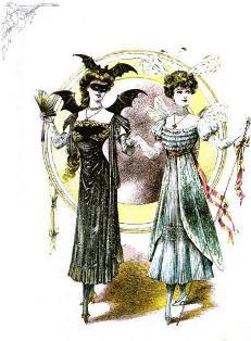 Costumi femminili da maschera per il Carnevale di inizio '900