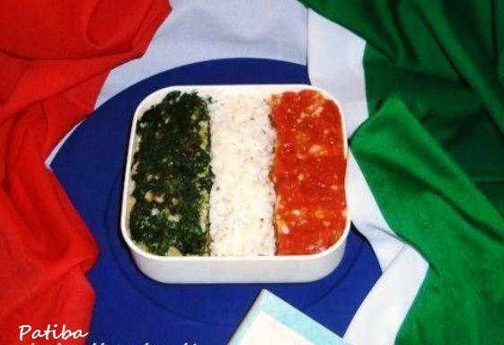 Risotto tricolore 150 Unità d'Italia