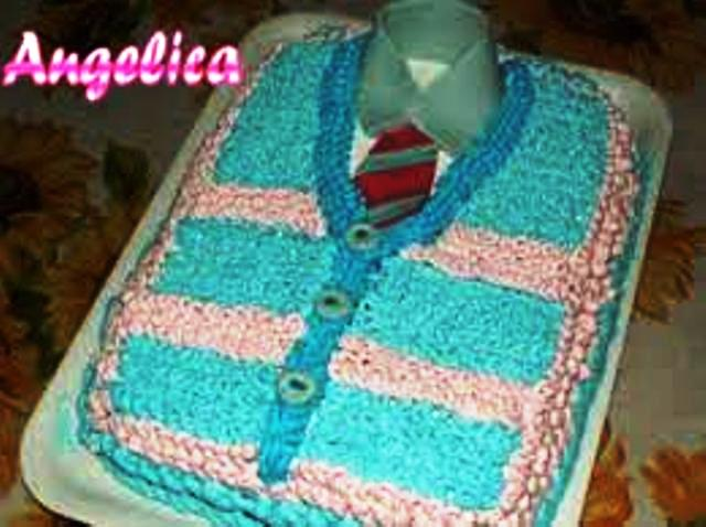 Torta cardigan per il papà ricetta di Angelica - Cookaround