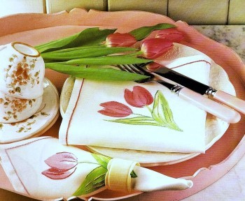 La tavola dipinta  ricamatatovaglioli