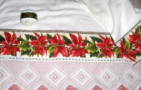 Uncinetto: Bordura per asciugamano tovaglia lenzuolo