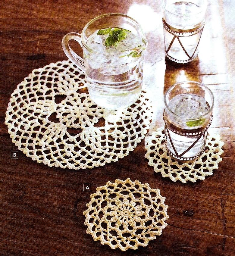 Uncinetto: sotto bicchieri sotto tazze