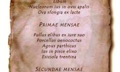 2. ABEMUS IN CENA menù dell'antica Roma