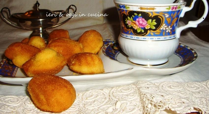 La madeleine (madeleinette o petit madeleine)