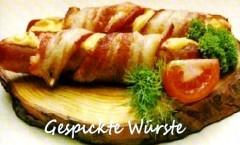 Gespickte Würste, Salsicce rivestite