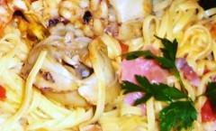 Tagliolini all'uovo con sughetto di pesce