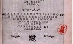 Cristoforo da Messisbugo: Banchetti, compositioni di vivande et apparecchio generale