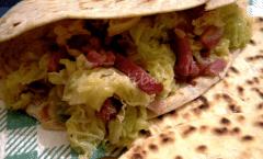 Piadina romagnola verza pancetta