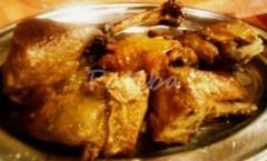 Oca in porchetta per la festa di San Martino coniglio porchetta