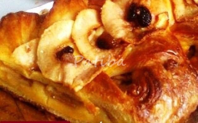 Strudel alla crema con mele e savoiardi