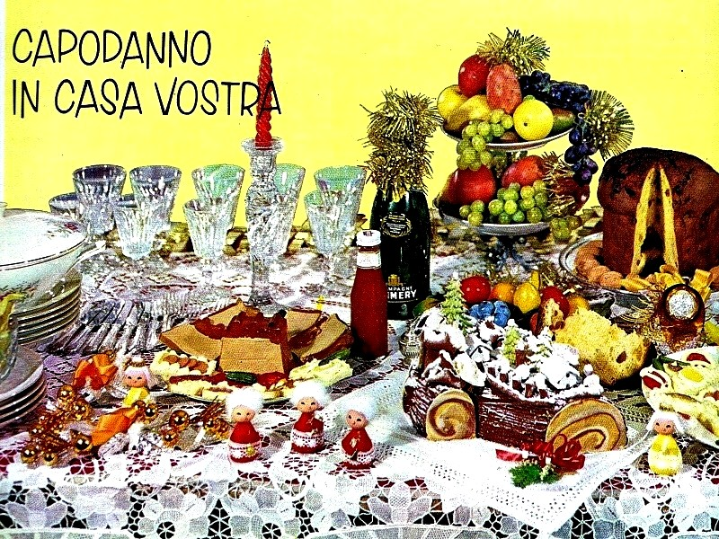 Tre menù cena tradizionale Capodanno