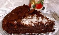 Fondant au chocolat noir avec noix de coco