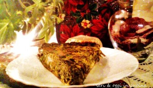Uova in frittata: Frittata al forno con cime di rapa e ricotta