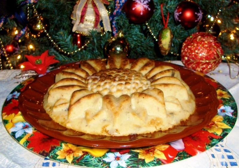 Girasole di patate con prosciutto e formaggio