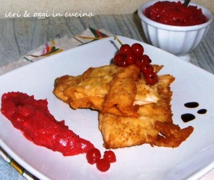 Filetto trota salmonata con salsa di Ribes