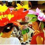 Tavola colorata e fiore per cappello x festa di bambini 2