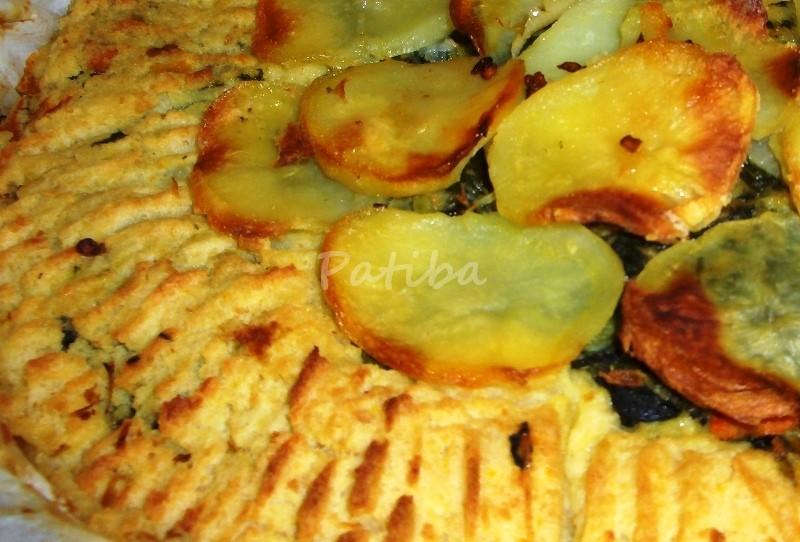 Tortino di purea di patate e bieta
