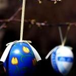 alberello di Pasqua con uova decorate