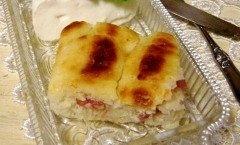 crostata con stracchino