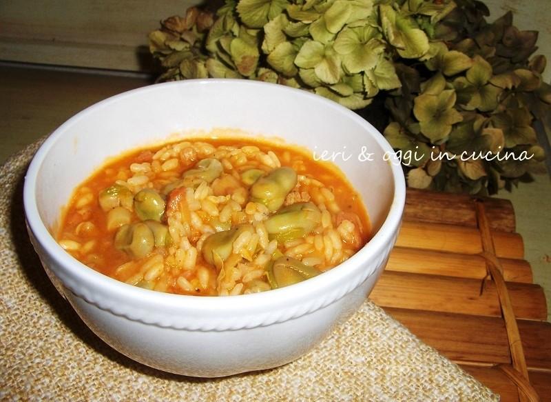 Fave in minestra di riso