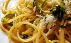 Carbonara di mare con zucchine