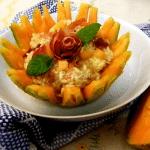 Risotto con prosciutto e melone