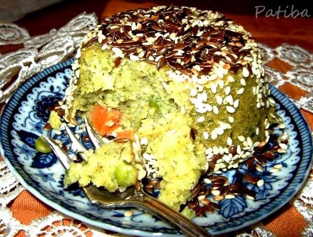 Sformatini di Farinata di ceci con verdure