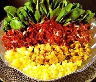 Verdure in insalata e condimenti