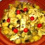 tajine pollo verdure (8)