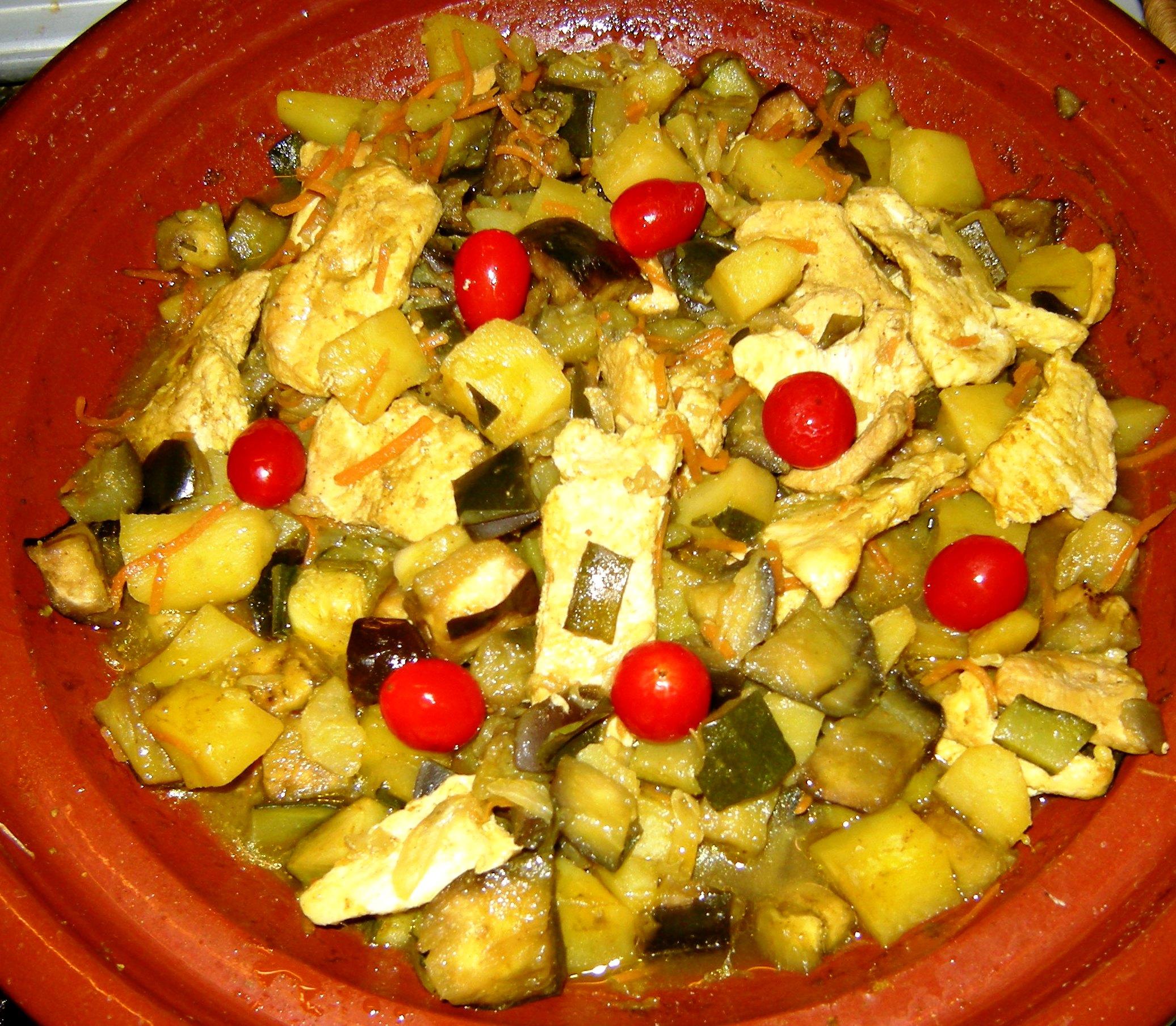 tajine pollo verdure 8