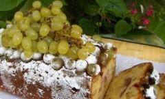 torta con uva