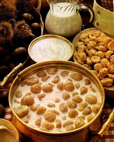 Busecchina lombarda con castagne secche