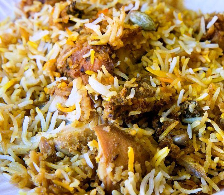 Biryani con riso Basmati e pollo