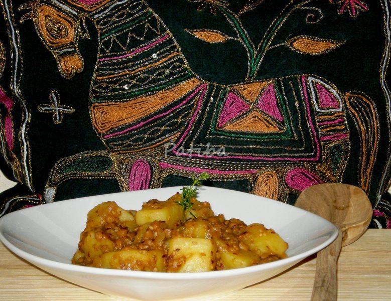 Patate con lenticchie al profumo di spezie