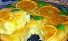 Torta rovesciata di arance
