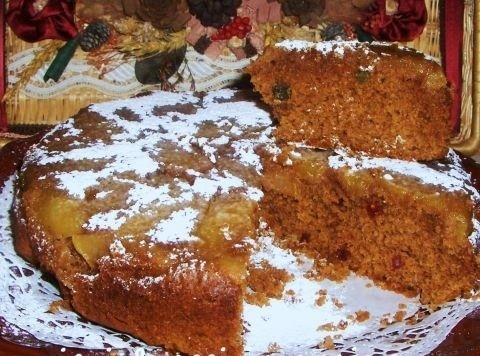 Torta rovesciata di farina di castagne
