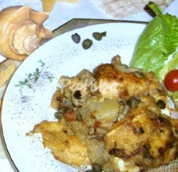 Baccalà con patate e funghi (5)