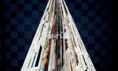 Alberello natalizio di carta da giornale