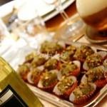 chicco d'uva con glassa al gorgonzola e pistacchi di bronte 0