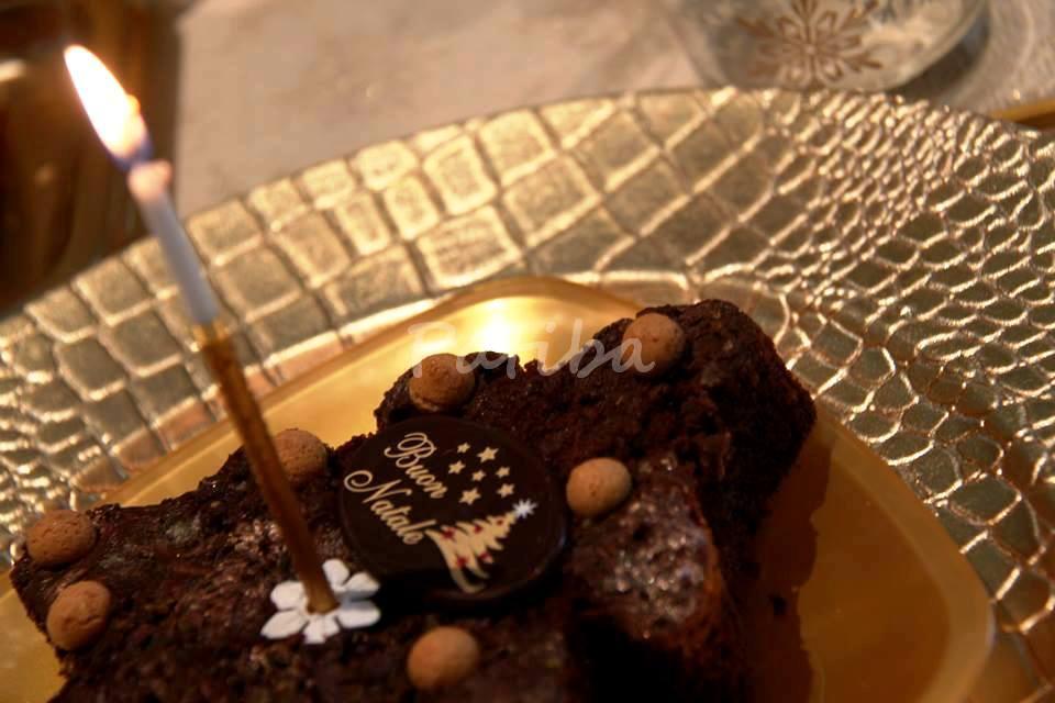 Alberello natalizio di brownie ed amaretti