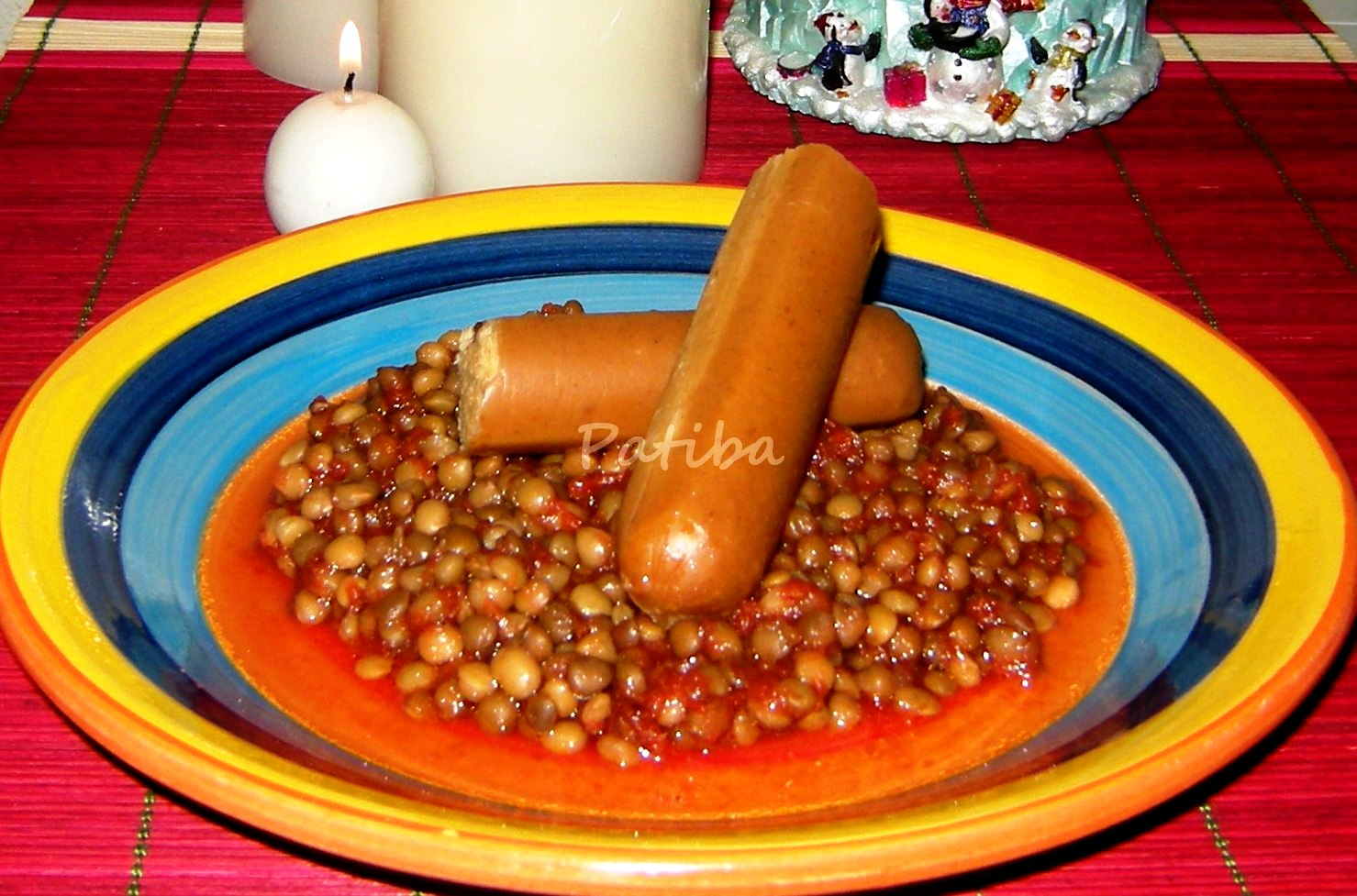 Lenticchie e salsicce vegetali