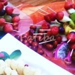 decorazioni frutta spiedini