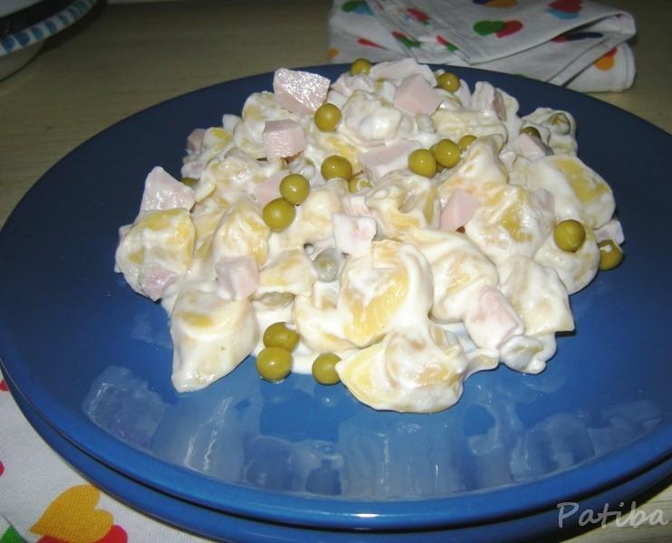 Pasta alle 3P (panna, prosciutto, piselli)
