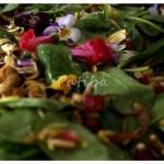 Insalatona con erbe primaverili e carciofi crudi