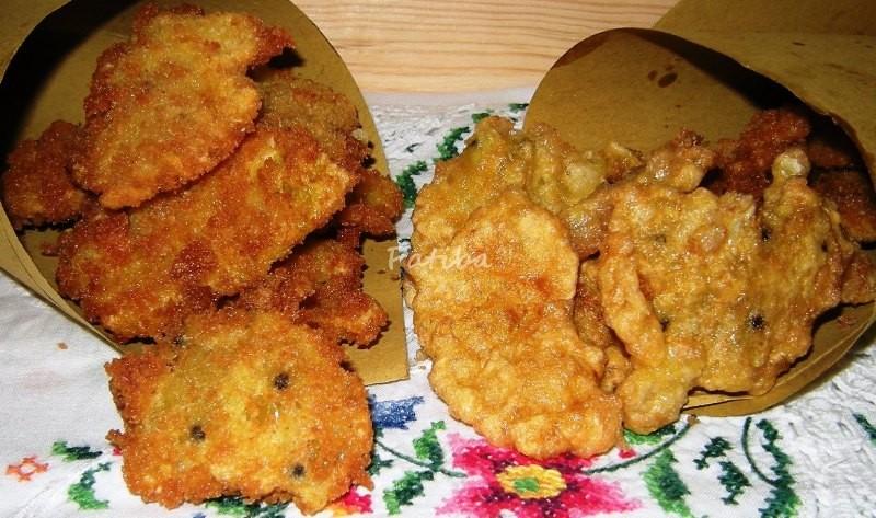 Frittelle di bucce di fichi d'India