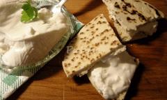 Piadina romagnola formaggio Squäquaròn