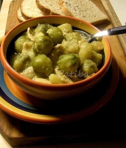 Zuppa di Cavolini (cavoletti) di Bruxelles con patate