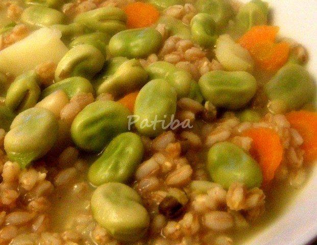 zuppa farro fave (2)